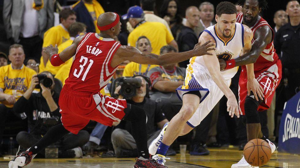 Curry, tras su exhibición en Portland.Curry, en el partido del domingo antes de lesionarse