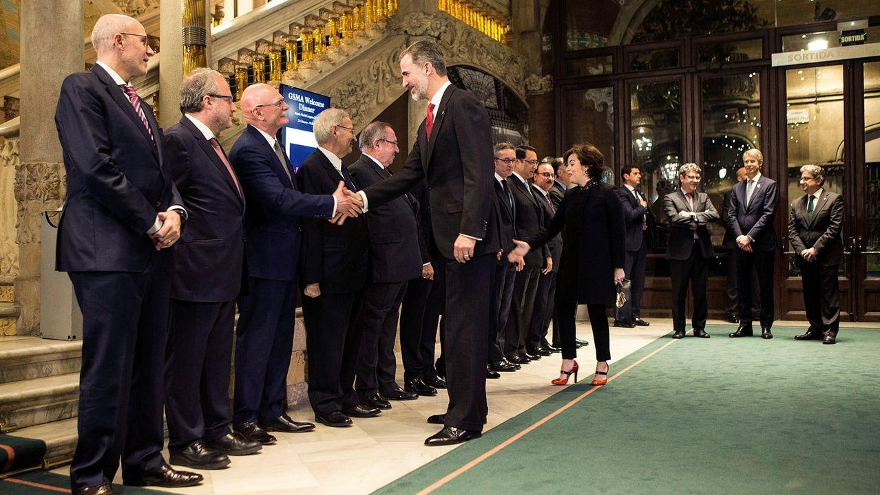 En plena crisis por el desafío secesionista catalán, Felipe VI volvió a presidir la cena de bienvenida del Mobile World Congress.