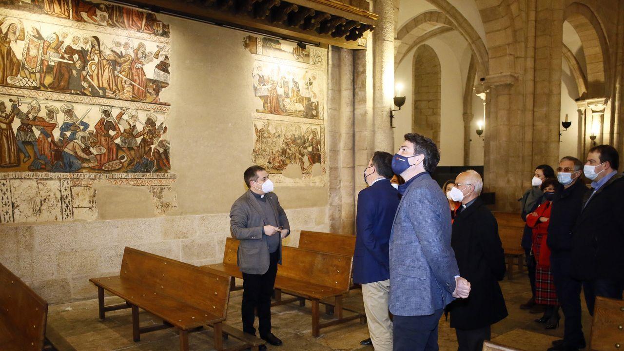 Reapertura del pórtico de la Gloria a las visitas.Na catedral de Mondoñedo restaurarase o conxunto mural do presbiterio e da nave central