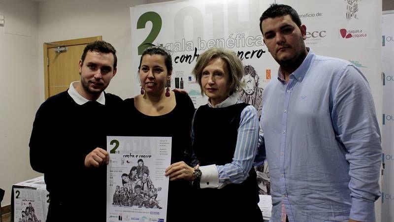 Xabier Díaz, Pablo Novoa, Marcelo Dobode y Uxía Senlle participaron en la presentación.