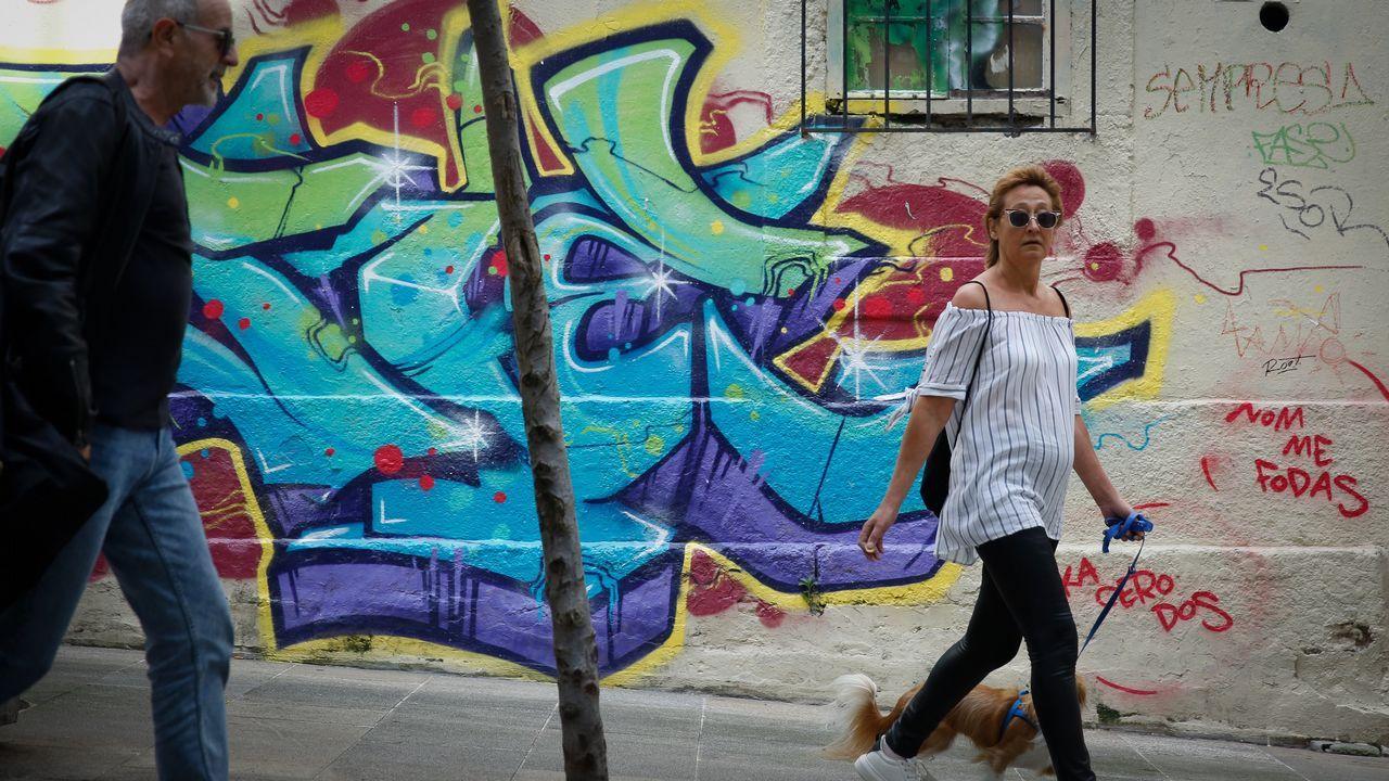 Pintada en las calles de A Coruña