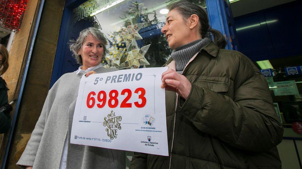 La dueña de la administracion de la calle Arzobispo Guisasola, en Oviedo, que vendio 20 décimos de un quinto premio