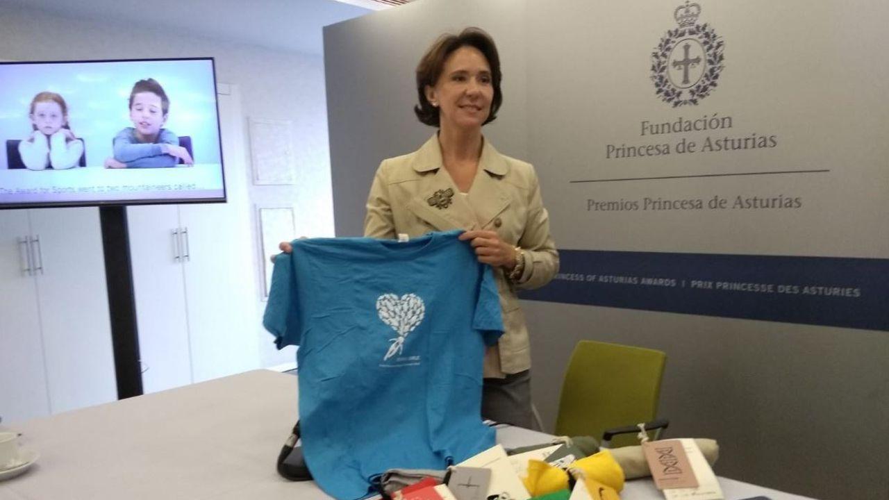 La presidenta de la Fundación Princesa de Asturias, Teresa Sanjurjo, en la presentación del programa cultural de la Semana de los Premios