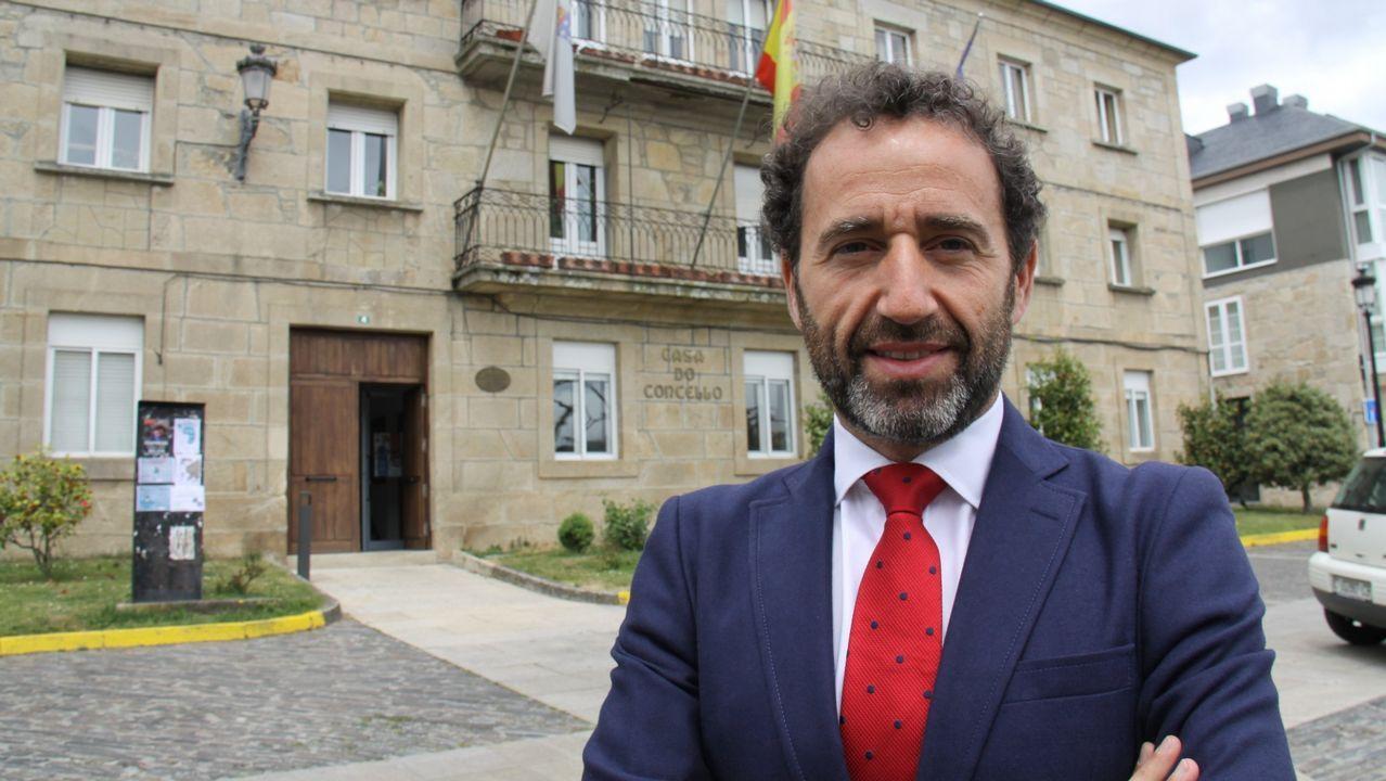 Galicia en alerta por la borrasca Helena.Manuel Vicente de Inés es el presidente de la Mancomunidad Terras do Navea-Bibei, y responsable del geriátrico de Trives