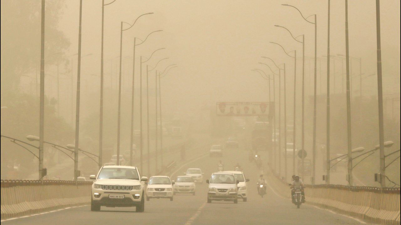 ¡Mira aquí las fotos de la inauguración de la Feira do Libro de Ribeira!.Vehículos circulan entre el polvo y la contaminación en Amristsar