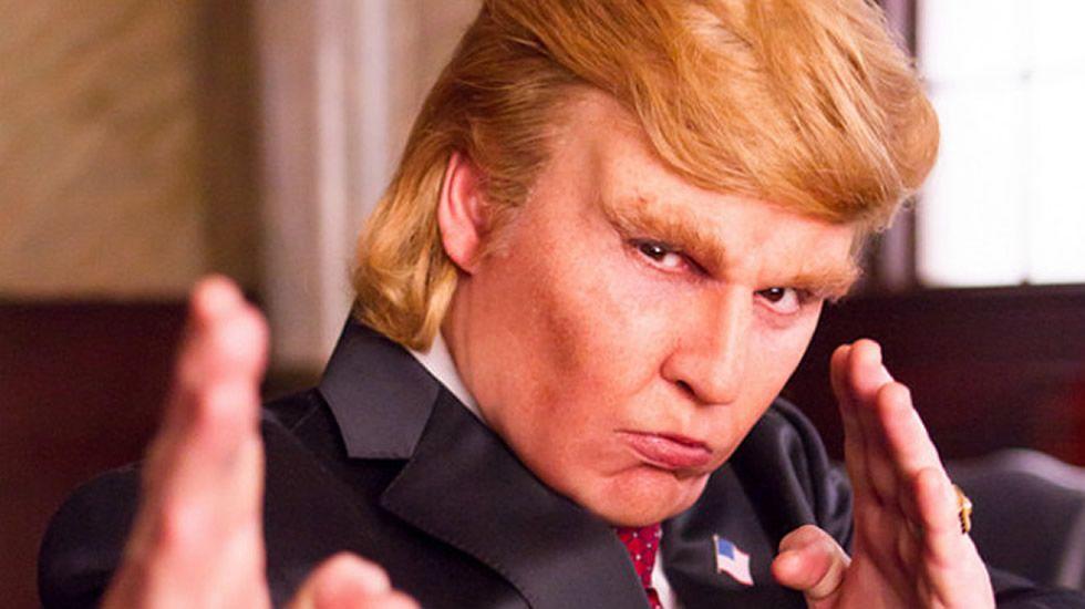 Así interpreta Johnny Depp a Donald Trump