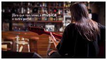 Fotograma do vídeo promocional da campaña #aculturasegue en favor do consumo de produtos culturais