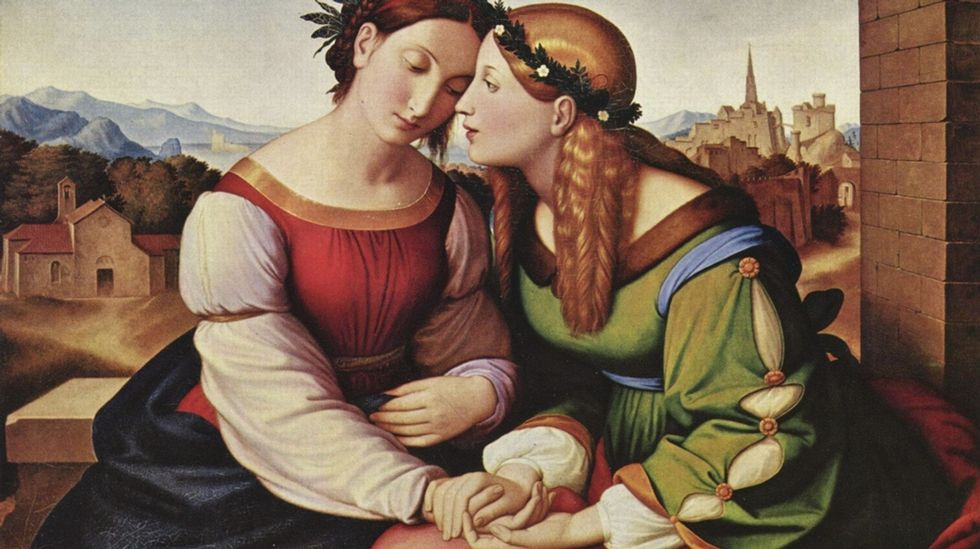 «Italia y Germania» (1828), de Johann Friedrich Overbeck. Nueva Pinacoteca, Múnich
