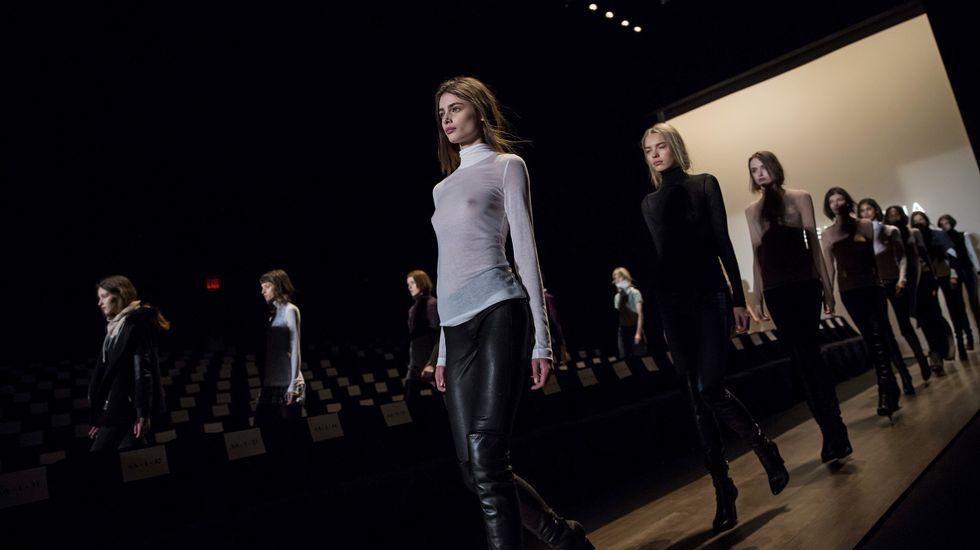 SEMANA DE LA MODA DE NUEVA YORK .Ensayo general del desfile de BCBG Max Azria en la Semana de la Moda de Nueva York