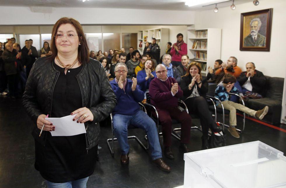Bugallo obtuvo el apoyo del 92,8 % de los militantes que participaron en la asamblea.