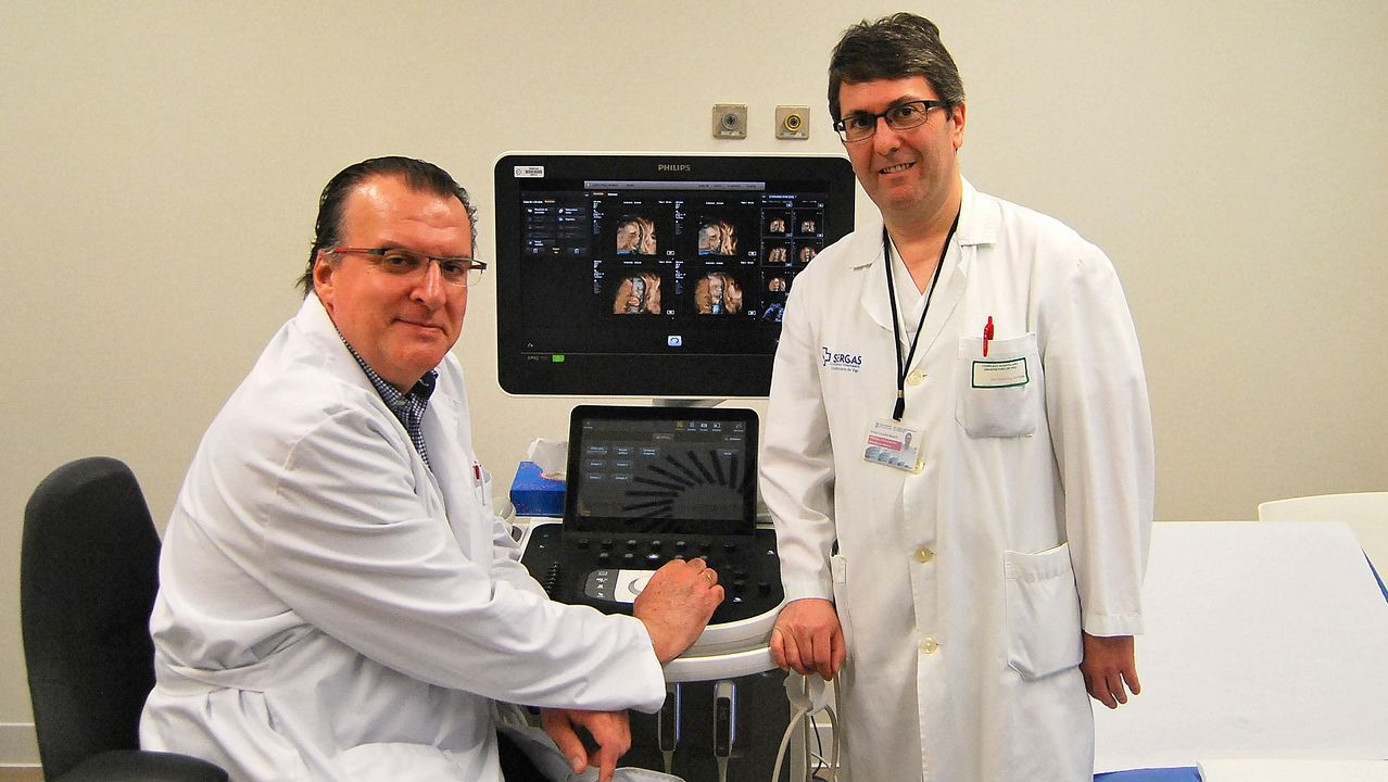 El equipo de neurorradiología del Cunqueiro