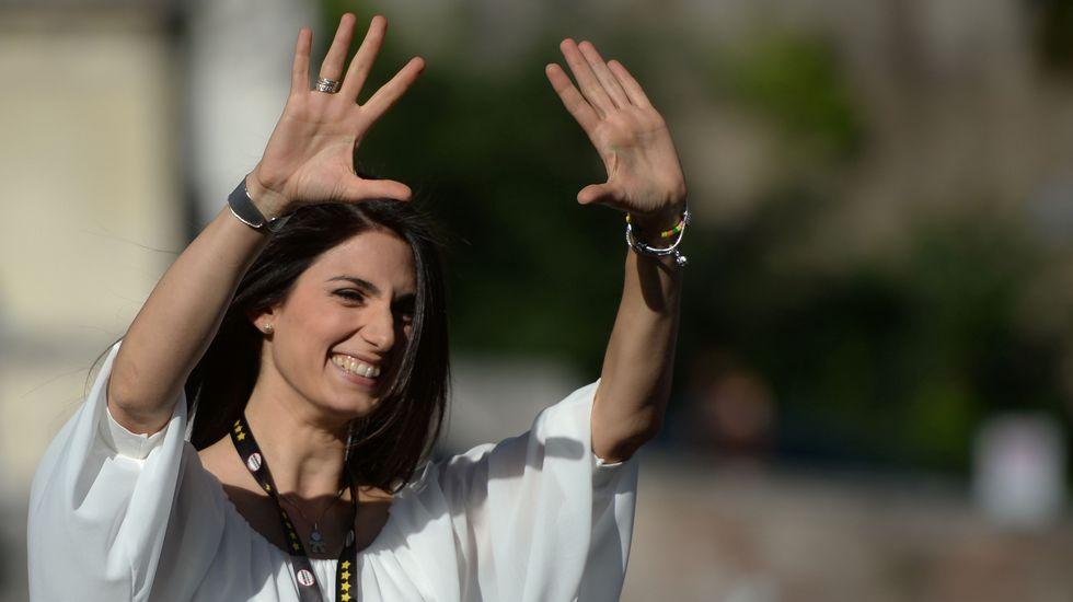 La candidata del Movimiento Cinco Estrellas Virgina Raggi