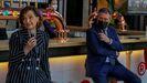 La vicepresidenta del Gobierno, Carmen Calvo, este viernes junto al alcalde de Sevilla, Juan Espadas, en la inauguración de un nuevo espacio de ocio en la fábrica de Cruzcampo en Sevilla