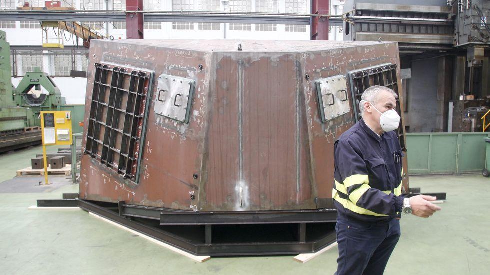 La nueva máquina diseñada por Turbinas para mecanizar bloques de las F-110