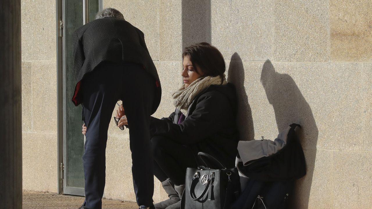 Valeria Quer en el exterior de los juzgados, tras abandonar la sala del juicio