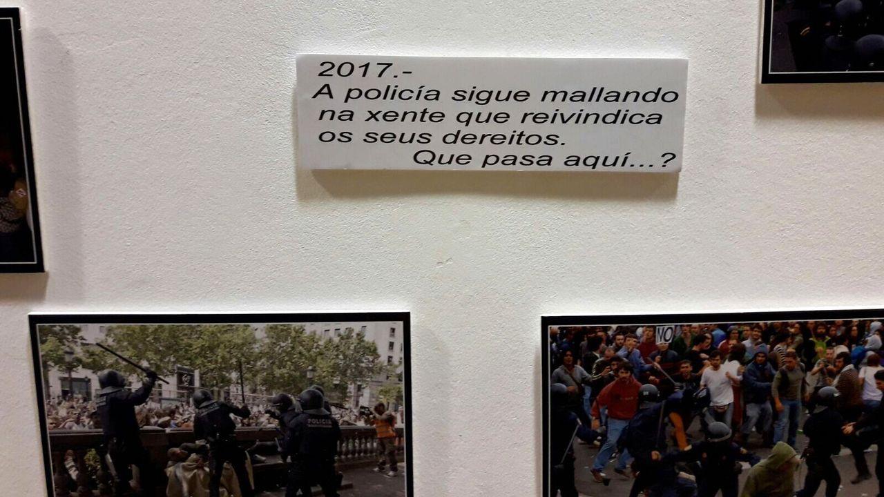 Manifestación contra casa de apuestas en Redobdela