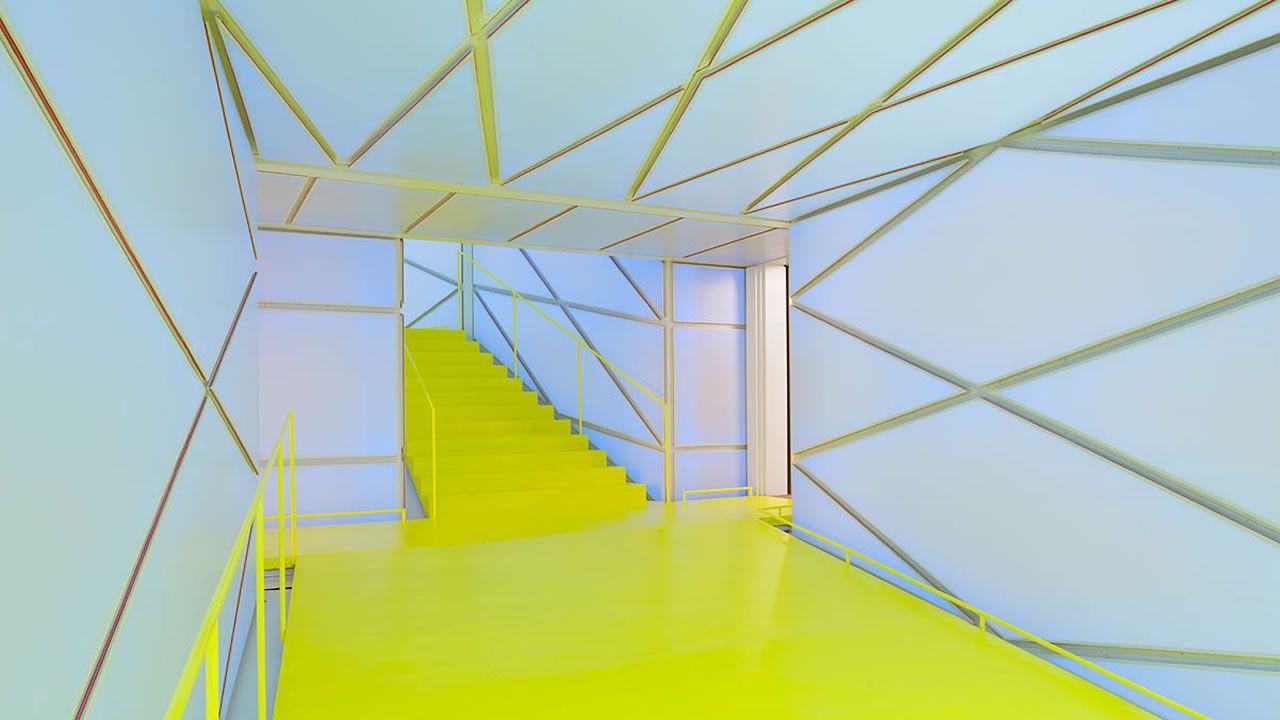 Interior del edificio madrileño. Arquitectos: Langarita - Navarro / Estructuras: Mecanismo