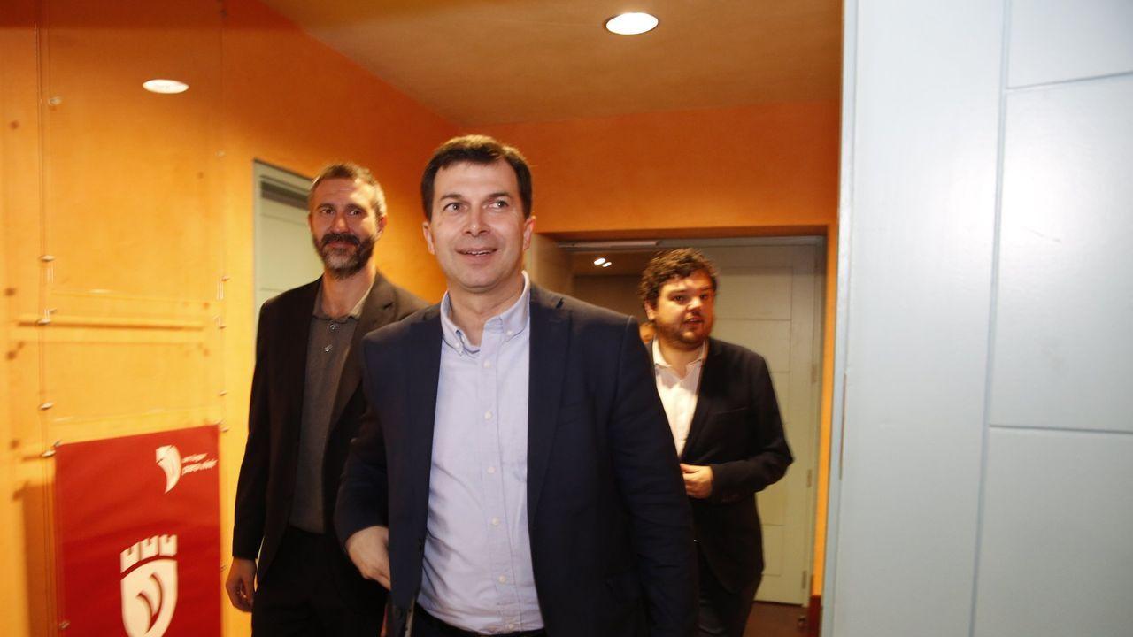 Pancho Casal y Luís Villares, en el Parlamento, en una foto de archivo