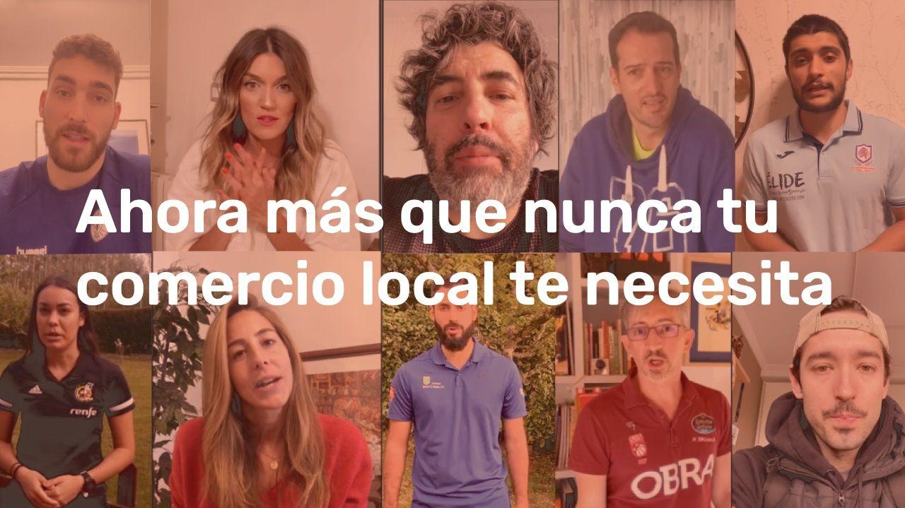 Un fotograma del vídeo de apoyo en el que colaboran figuras destacadas del deporte y la cultura