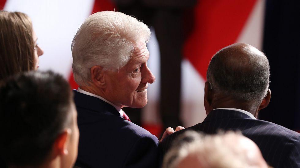El expresidente estadounidense, y pareja de la candidata demócrata, Bill Clinton.