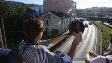 Protesta contra una vivienda ocupada ilegalmente en Oleiros, en el pasado mes de junio