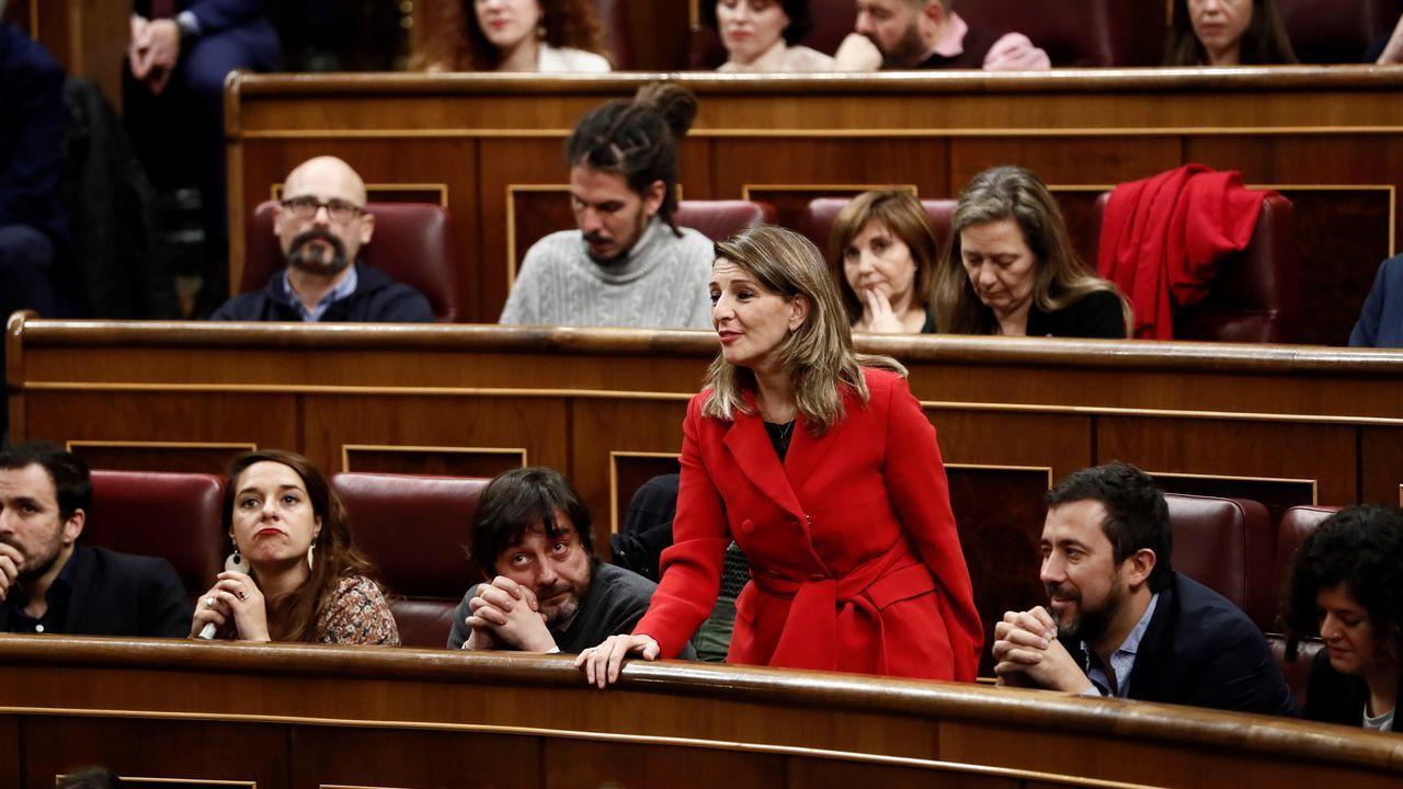 Votación de la gallega Yolanda Díaz