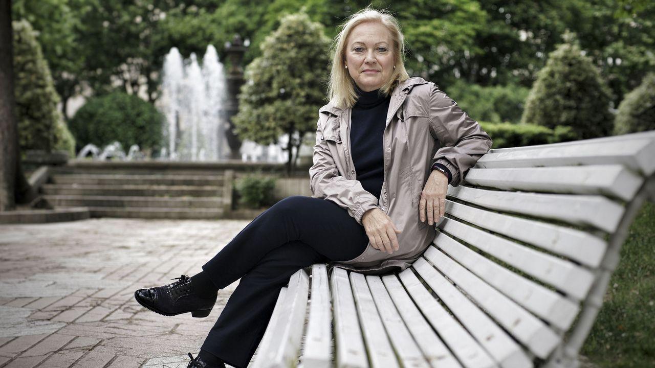 Marta Ferrera en Castlefield, la zona de los canales de Manchester centro