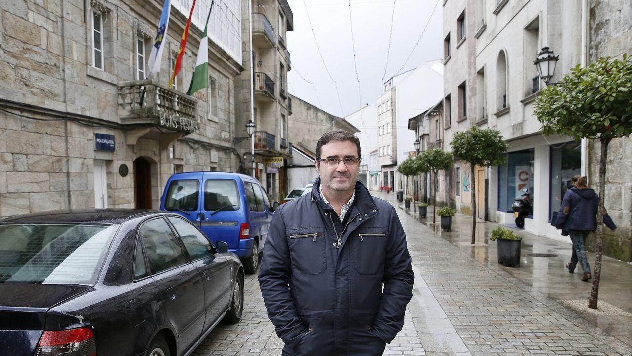 «No le digan a nadie que este es el lugar más feliz del mundo».El exalcalde popular de A Cañiza, Miguel Domínguez