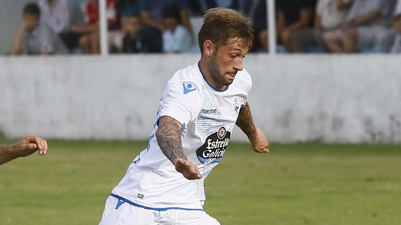 Anquela en el Oviedo-Deportivo