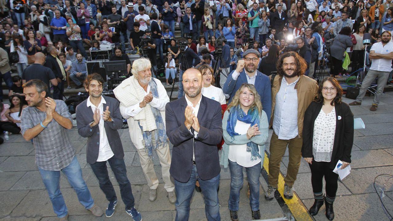 Imagen de archivo del acto fin de campaña de En Marea previo a las elecciones del 2016 a la Xunta.
