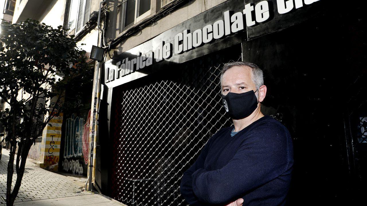 MARCOS VAZQUEZ, UNO DE LOS SOCIOS DE LA FABRICA DE CHOCOLATE CLUB