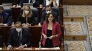Isabel Díaz Ayuso en el pleno de la Asamblea de Madrid este jueves