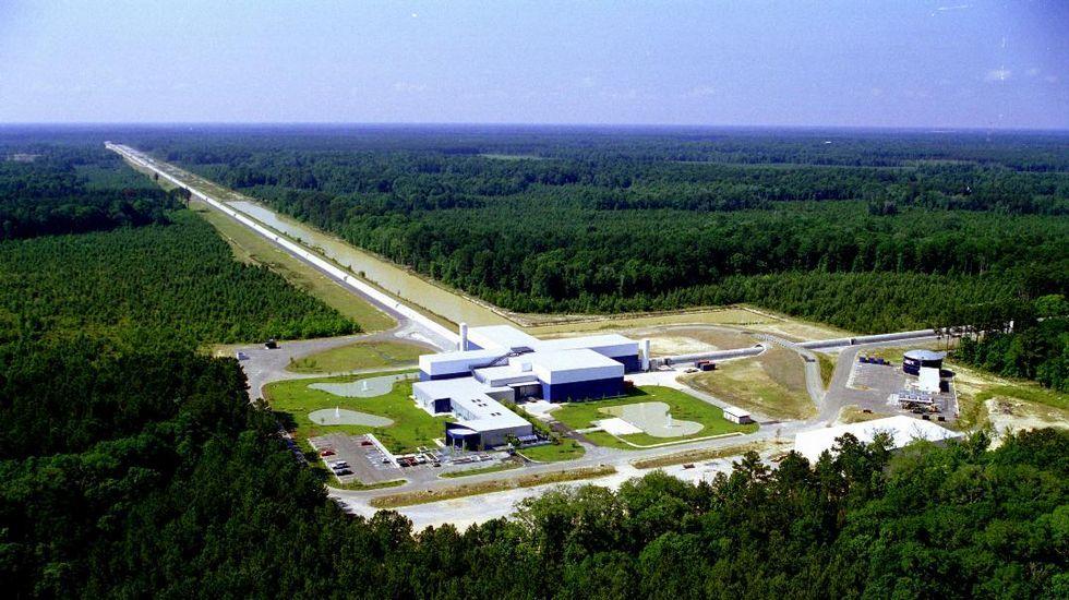 Interferómetro LIGO en Luisiana, idéntico al que se encuentra en el estado de Washington