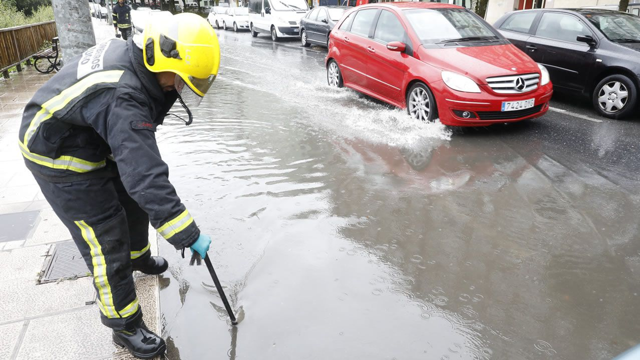 Inundaciones por tormenta en Lugo