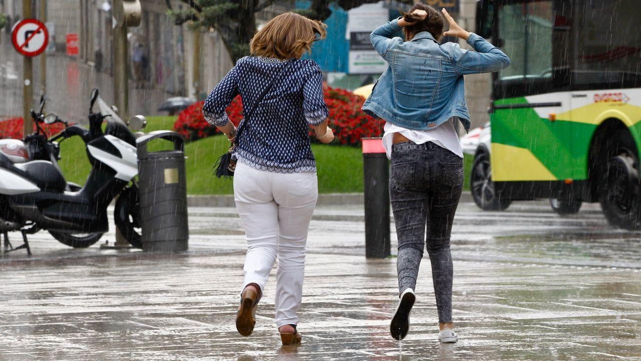 Miércoles lluvioso en Vigo.A pesar de la lluvia de origen tropical ayer las temperaturas fueron altas en Galicia