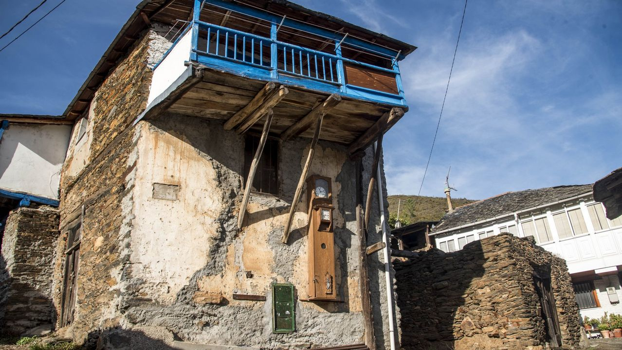 En la imagen, la aldea de Figueiredo, cerca del cauce del Sil