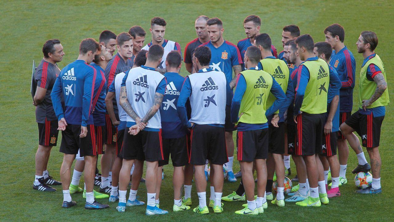 Tráiler dela serie: «El corazón de Sergio Ramos».Los jugadores la selección española de fútbol durante el entrenamiento que han realizado en el estadio de El Molinón, en Gijón,