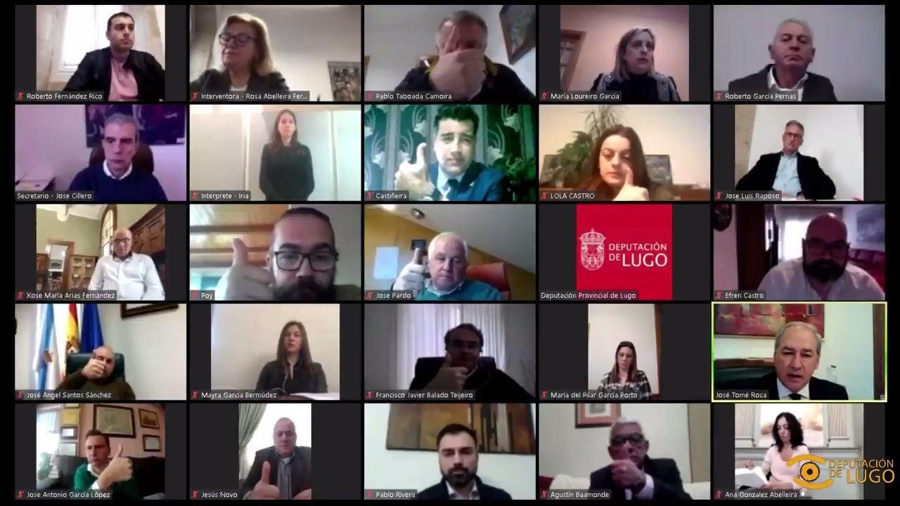El pleno de la Diputacion de Lugo se hizo de manera telemática