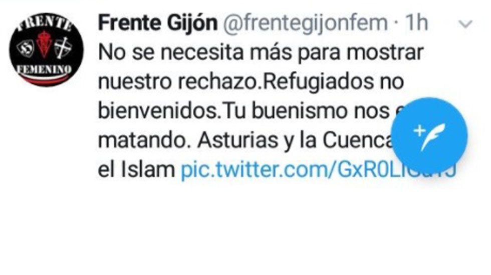 El barco «Esperanza» de Greenpeace.El mensaje xenófobo del Frente Gijón Femenino
