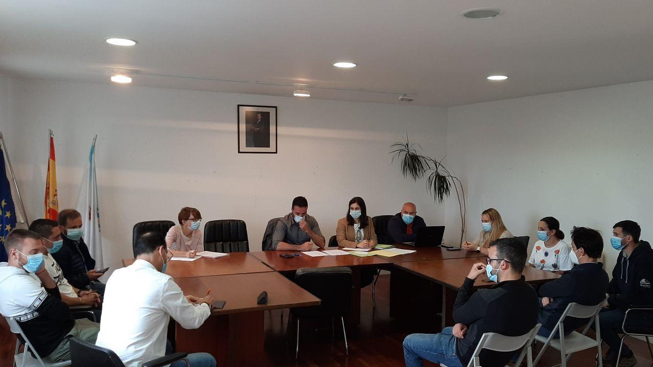 Actos en el interior de la Fundacion Eduardo Pondal