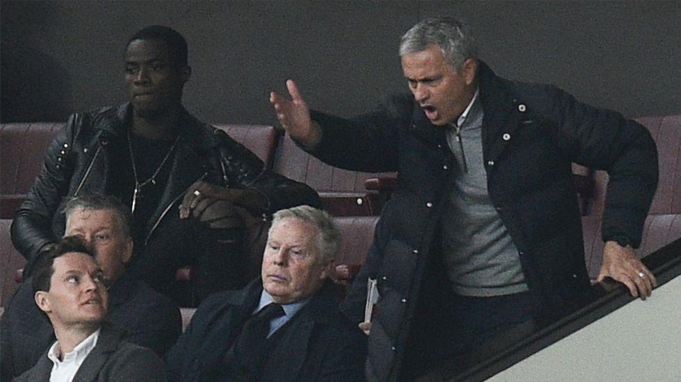Del bosque.Mourinho, tras ser expulsado la pasada jornada