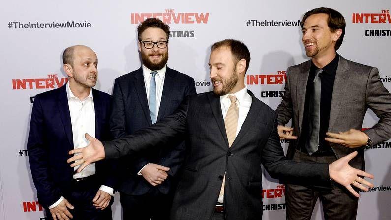 Cartel de «The Interview» en Los Ángeles
