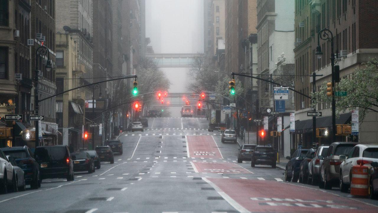 La avenida Lexington de Nueva York, vacía