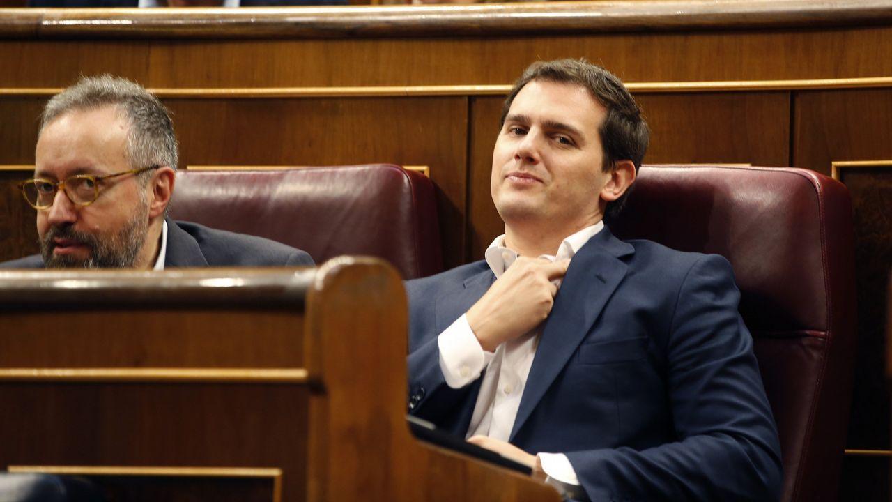 Aguado asegura que Cs no pactará con el PSOE en la Comunidad de Madrid.Ángel Garrido y Cristina Cifuentes