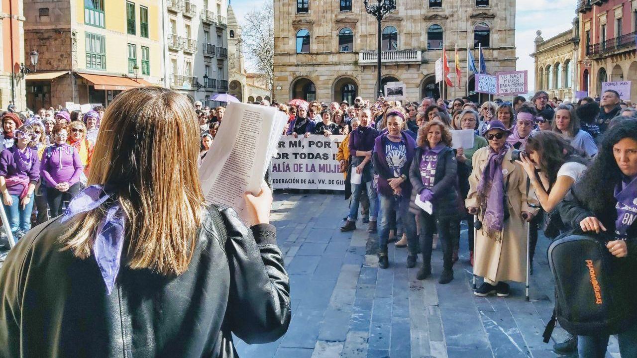 Concentraciones por el 8M por todo Asturias.Manifestación en Ribeira