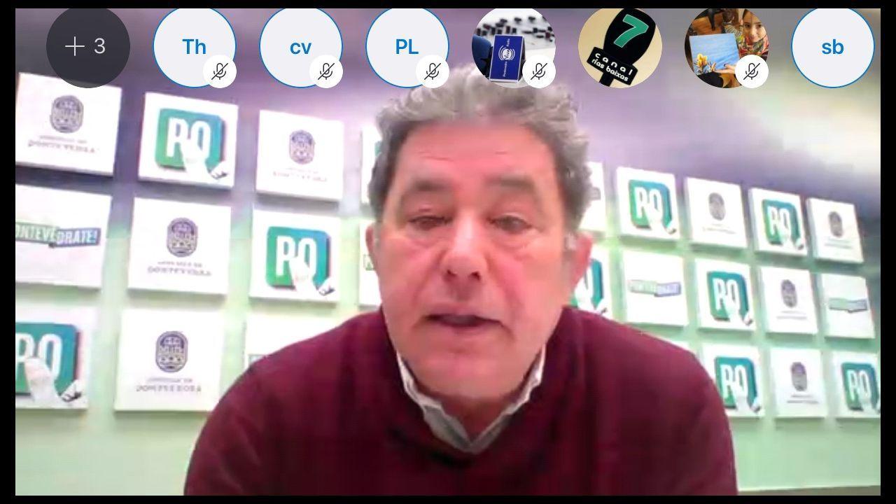 Rueda de prensa por Skype del alcalde de Pontevedra, Miguel Anxo Fernández Lores