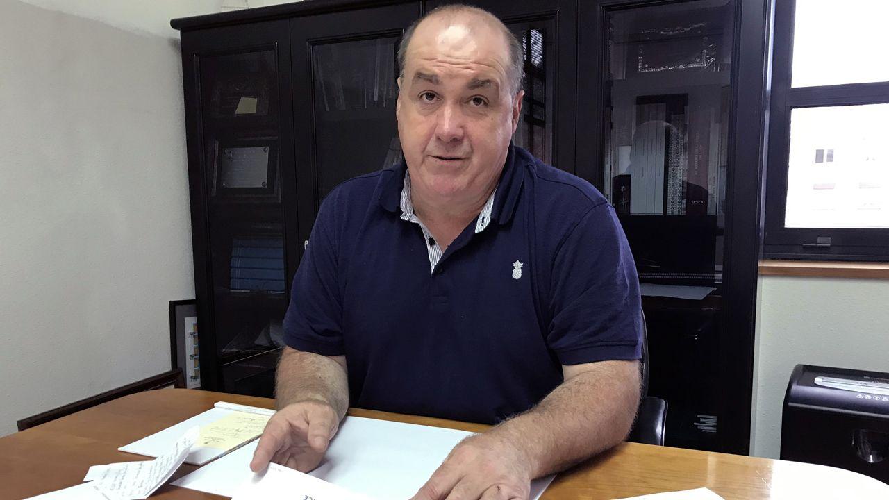Jose? A?ngel A?lvarez 'Quiro?s', alcalde de San Martín del Rey Aurelio