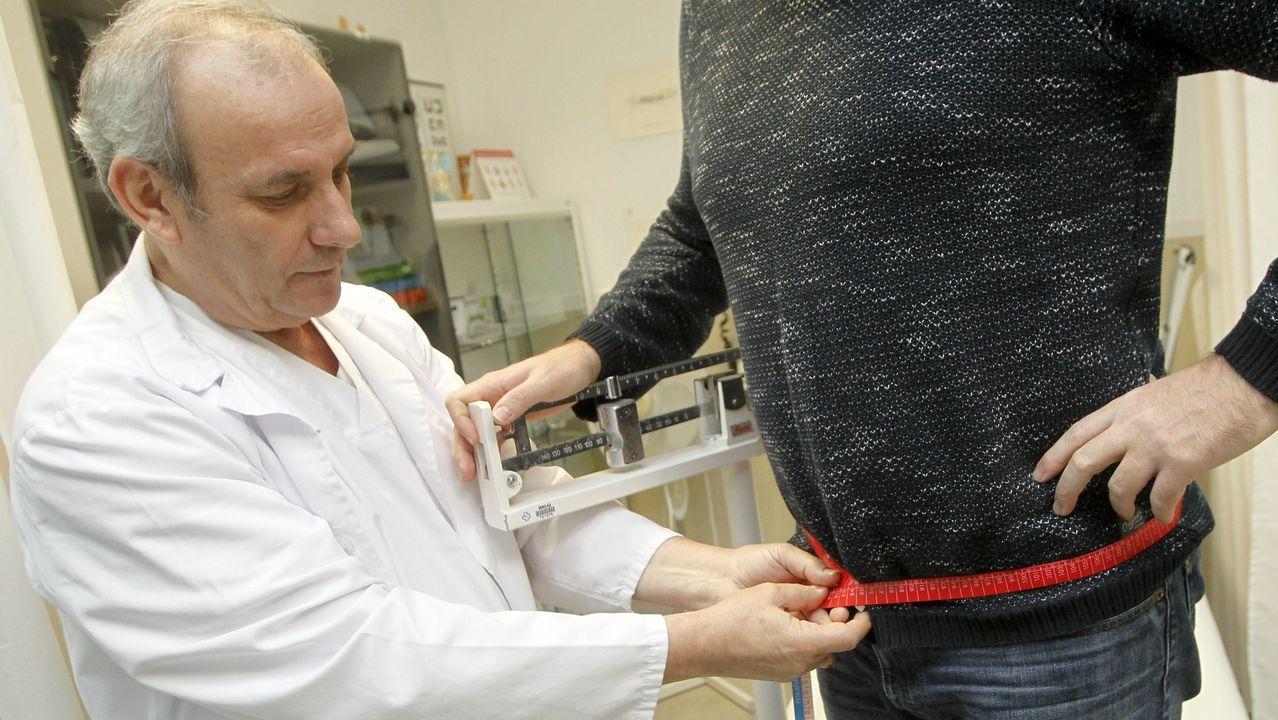 Carlos Piñeiro durante uno de los controles de salud