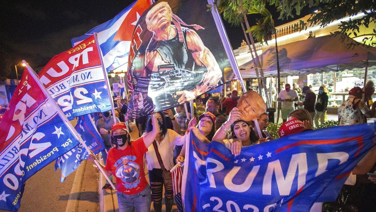 Seguidores de Donald Trump en Miami