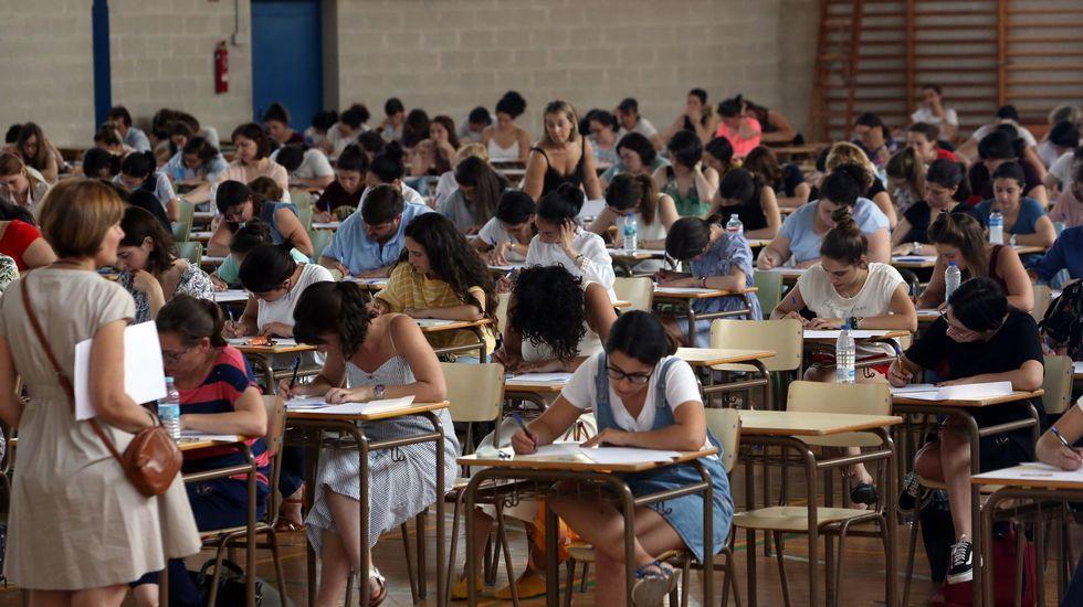 Oposiciones para profesores de infantil, el pasado mes de junio en Ourense